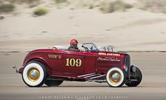 Jim Turnbull - Royal Kustoms 1932 Flathead Ford Roadster - 2015 VHRA Pendine Sands Hot Rod Races