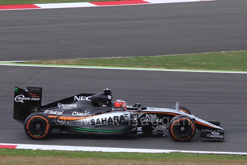 Nico Hulkenberg in Free Practice 3 at the 2015 British Grand Prix at Silverstone