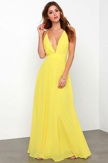 Crossing Spaghetti Straps Elegant Chiffon Maxi Dress