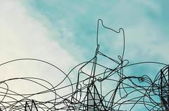 Tocando el cielo (una silla vacía)// Touching the sky (Mireia B. L.) Tags: barcelona skychair touchthesky emptychair tàpies núvolicadira antonitàpies fundacióantonitàpies sillavacía chairsculpture sillacielo contemplarelcielo contemplatesky