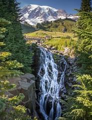 Myrtle Falls (writing with light 2422 (Not Pro)) Tags: landscape waterfall mountrainier mountrainiernationalpark washingtonstate myrtlefalls edithcreek sigma1020mmlens sonya77 richborder