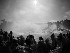 American Falls Up Close (Pacific Lime (Catching Up!)) Tags: bw ny niagarafalls candid bridalveil blacknwhite prospectpoint americanfalls observationtower goatisland niagarariver