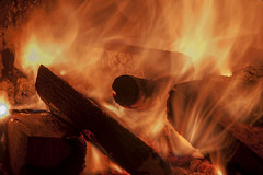 Mesmerising flames (Vortex Photography - Duncan Monk) Tags: wood summer garden fire iron glow flames logs warmth pit firepit chiminea embers 2015