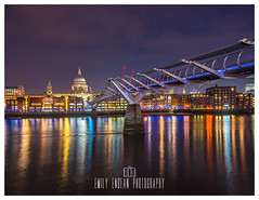 Nightscape in the City. (Emily_Endean_Photography) Tags: london longexposure england uk colours night nightscape thames river reflection nikon