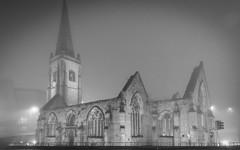 Charles Church in the fog (Rich Walker75) Tags: plymouth devon church churches architecture fog foggy weather canon eos100d efs1585mmisusm blackandwhite blackwhite monochrome