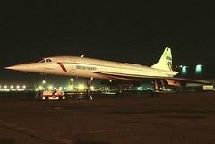 G-BOAF British Airways Concorde 102 at KCLE (GeorgeM757) Tags: gboaf britishairways concorde102 britishaerospaceaerospatialeconcorde aircraft airplane alltypesoftransport aviation airport kcle clevelandhopkins nightairplane georgem757