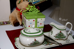Xmas 2016 _06 (The Official eM Gee eM) Tags: christmasplatter christmasplate christmas christmastheme plate breakable jar christmasjar