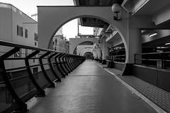 Noisy le Grand (pi3rreo) Tags: noiretblanc black white noisy arcades urban urbain ville city perspective extérieur graphique paris ile france denis saint commercial centre fujinon xe2 fujifilm