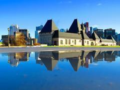 Reflection at McTavish Resevoir (MTL Urban Photos by @mjmantis) Tags: montreal quebec reflection waterfront cityskyline cityscape urbanphotos mtlmoments mtl