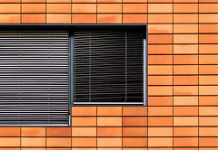 Simply.City (Lunor 61) Tags: abstract abstrakt minimal minimalismus minimalistisch urban city facade fassade lines linien windows orange symmetry symmetrie tones ireneeberwein germany berlin architecture architektur ziegel
