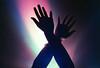 Ultraviolet (Hayden_Williams) Tags: hands arms wrist handsintheair shadow contrast light uvlamp ultraviolet violet purple indigo lighting party concert dance rave film analog analogue canonae1 fd50mmf18 kodakportra400
