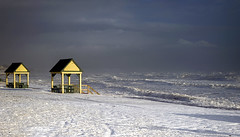Waves and Snow (Danny VB) Tags: canon 6d beach waves snow winter ef50mmf18ii gaspesie quebec canada ocean