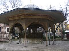 Hagia Sofia Church, begun 532 AD. Ottoman ablution fountain for prayers in the Mosque of HAgia Sophia. Şadırvan (Kevin J. Norman) Tags: hagiasofia istanbul turkey şadırvan