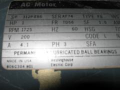 Motor tag (simonov) Tags: powermatic houdaille disc sander model30 vintage machinery woodworking tools