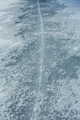 Ice Crack on Lake in Central Michigan (Lee Rentz) Tags: canadianlakes lakeoftheclouds america centralmichigan cold crack cracked cracking fishing freezing frozen ice icefishing icy lake michigan midmichigan northamerica snow snowy unitedstates usa winter