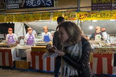 One bite (Dominic Sagar) Tags: 2016 danielle fujifilm japan t050 t100 t200 xt1 festival fisherman food night chiyodaku tōkyōto jp