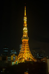 Towering inferno (Dominic Sagar) Tags: fujifilm japan t050 t100 t200 tokyotower x100s radio tower minatoku tōkyōto jp