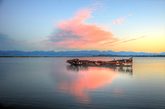 The Old Sea Dog (Wunderbowl) Tags: nature natura newzealand motueka theoldwahrf hdr sea ship sky