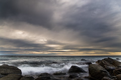Storm Clouds over Marino Rocks, Adelaide Australia (Caramel Kisses Photography) Tags: marinorocks rocks waves water ocean beach clouds sunset slowshutter adelaide australia australianbeaches southaustralia canon