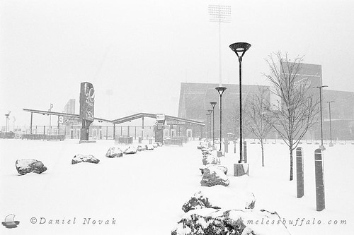 Film Photography: New Era Field in Winter (NFE_0075)