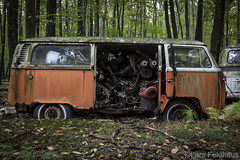 ...spare parts. (lars feldhaus) Tags: abandoned volkswagen rust nature roadtrip bus