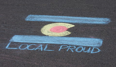 Open Streets 2015 - Elizabeth to Overland (City of Fort Collins, CO) Tags: people streets proud kids walking fun chalk community colorado open walk flag crowd bikes event biking local 2015