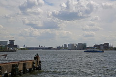 IJ (Maurits van den Toorn) Tags: haven station amsterdam ferry clouds port wolken pont ij harbouw