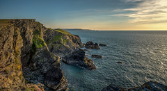Lochtyn Headland, Cardigan Bay (christaff1010) Tags: uk sea sky panorama sun sunlight seascape wales clouds landscape coast unitedkingdom britain cliffs ceredigion llangrannog