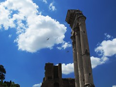 Foro Romano (Ruben Juan) Tags: italy roma canon italia paisaje foro powershot vistas lanscape templo columna fororomano g12 romaantigua castorypolux dioscura