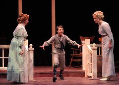 """(L to R) Shirley Jones, Carter Thomas and Brandi Burkhardt in the Music Circus production of """"The Music Man"""" at the Wells Fargo Pavilion July 31 - Aug 5. Photo by Charr Crail."""