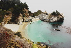 """""""I know now, Lord, why you utter no answer. You are yourself the answer. Before your face questions die away. What other answer would suffice?"""" (Therese Trinko) Tags: california park blue beach water monterey waves cove bigsur pacificocean waterfalls centralcoast"""