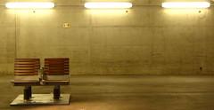 Gare d'Austerlitz, Paris (blafond) Tags: paris concrete gare bahnhof transportation estacion transports stazione austerlitz beton garedausterlitz emptyseats siegesvides