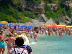 Leaving Makris Gialos (tubblesnap) Tags: sea costa beach island greek sandy greece busy lassi kefalonia packed cephalonia ionian makris heaving gialoscosta