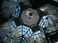 Art Building Shadows & Light (Jae at Wits End) Tags: blue light sky canada abstract building art geometric window glass up silhouette museum architecture backlight clouds pattern shadows angle interior ottawa skylight indoor structure junction ceiling lookingup shade join link opening intersection inside portal form backlit publicart outline shape joint upwards