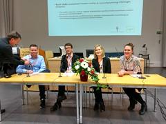Someri -paneelissa Ville Kormilainen, Janne Matikainen, Anu Sivunen ja Aku Varamäki