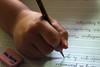 dominando el trazo (M. Martin Vicente) Tags: gomadeborrar lapicero mano caligrafía aprendiz