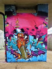 MeskOne / Anderlecht - 9 jan 2017 (Ferdinand 'Ferre' Feys) Tags: bxl brussels bruxelles brussel belgium belgique belgië streetart artdelarue graffitiart graffiti graff urbanart urbanarte arteurbano meskone mesk neerpede anderlecht