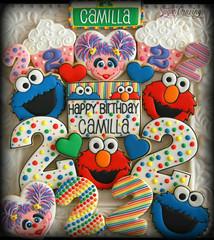 Camilla Sesame Street (3)-1 (christine-sugarcravings) Tags: sugarcravings decoratedcookies customcookies sesamestreet elmo abbycadabby cookiemonster birthdaycookies