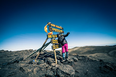 The top of africa (SebastianJensen) Tags: uhuru peak kilimanjaro summit tanzania africa mountain travel view sky hiking climb outdoor