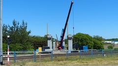 P1380409 DK 15 Brodnica. Poland (stapaw) Tags: kujawsko pomorskie kuyavian pomeranian most bridge budowa construction dźwig crane wiadukt viaduct