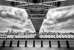 Sydney Harbour Bridge (Martin Snicer Photography) Tags: bw bridge travel sydney australia 70d wideangle 1018mm canon clouds perspective photographer sydneyharbourbridge