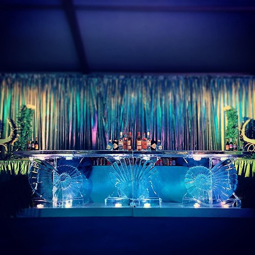 One of two 13' long #icebars for an under the sea #holiday #party last night @mcnayart with @wilkinsonrhodes @ilios_lighting @marqueesatx and other amazing #eventprofs #fullspectrumice #sanantonio #thinkoutsidetheblocks #brrriliant - Full Spectrum Ice Scu