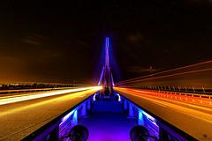Rheinbrücke Wesel (st.weber71) Tags: brücken brücke lzb langzeitbelichtung nacht nachts nikon d750 tamron wesel rheinbrücke nrw germany deutschland nightshot nachtaufnahme beleuchtet led outdoor bunt architektur rheinland