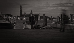 Ghosts, just like people, arrive to Venice by boats (Tigra K) Tags: venice veneto italy it 2014 architecture boat church city dome ghost night people sea spire tower