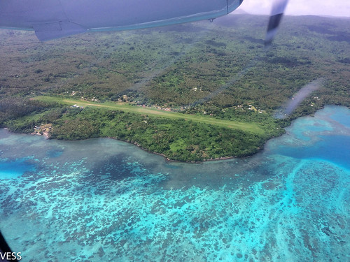 Grass airstrip in Banks Islands