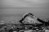 Chillin' on the Beach (KWPashuk) Tags: nikon d7200 sigma18250mmdcmacro lightroom kwpashuk kevinpashuk beach rocky driftwood ice icy cold water nature monochrome mono coronationpark oakville ontario canada