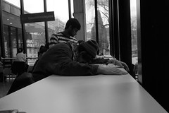 canteen:fatigue (dilettant:nikki) Tags: canteen mensa fatigue student university freiburg sleeping candid