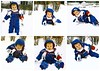 First Time Playing in the Snow (genesee_metcalfs) Tags: collage kids son fun winter snow snowsuit january