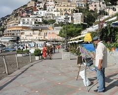 Italy (Positano) Street painter (ustung) Tags: italy positano street painter candid outdoor streetview beach road nikon