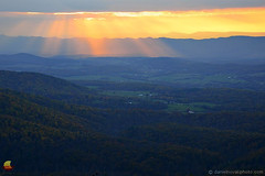 Beams over Shenandoah Valley (DTA_8840) (masinka) Tags: frontroyal virginia unitedstates va shenandoah valley sun beams rays clouds colors sunset landscape etbtsy outdoors skyline drive view distant distance photography wallart walldecor picture image photo warm fall autumn